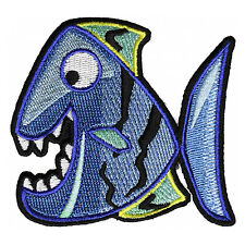 Embroidered Cute Happy Fish Kids Sew or Iron on Patch