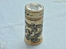 COLLECTABLE ANTIQUE HAND CRAFTED & ENGRAVED DRAGON  TRINKET BOX W / LID