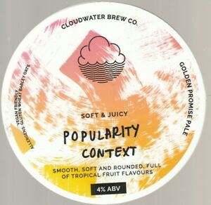 CLOUDWATER BREW CO - POPULARITY CONTEXT - PUMP CLIP FRONT