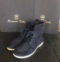 NEW MASSIMO DUTTI BLUE SUEDE ANKLE BOOTS LACE UP MENS UK 9 EU 43 US 10 MD114