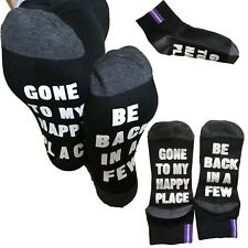 Gone to my happy place socks sleep lover sleepy dream gift present comfort sock