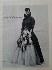 1949 women's Ceil Chapman evening gown dress at Bergdorf Goodman vintage ad