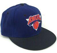 Vintage New York Knicks New Era Pro Model 5950 Fitted Hat Blue Orange Deadstock