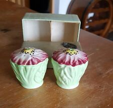 Carlton Ware Green Poppy Salt & Pepper with original box.