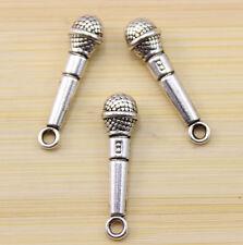 20 pcs fashion Tibet silver microphone charm pendant 27x7 mm