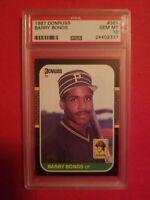 1987 DONRUSS #361 BARRY BONDS ROOKIE RC PSA 10 PIRATES