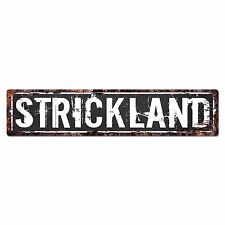 SLND0456 STRICKLAND CAVE Street Chic Sign Home man cave Decor Gift