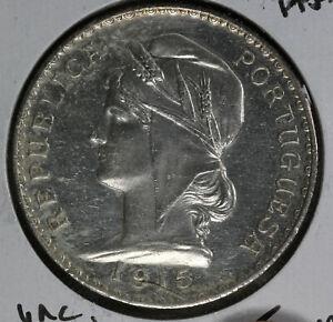 NIce 1915 Portugal 1 Escudo Silver Coin!