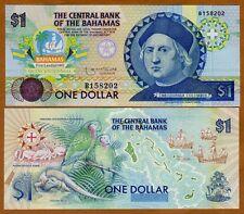 Bahamas, 1 dollar, 1992, P-50, Columbus, UNC > Commemorative