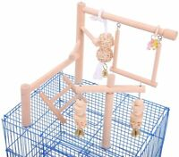 Parrot Cage Toys/ Stand/ Perch/ Ladder Wood Bird Cage Accessories Play Gym NEW