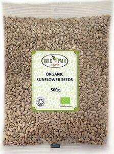 Organic Sunflower Seeds | Bold & Pack | Vegan, GMO free, Raw, Kernels, Organic