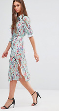 DARLING LONDON Ladies Floral Shirt Dress in Blue Haze Multi UK 10/EU 38