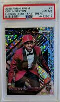 2018-19 Panini Prizm Fast Break Luck of the Lottery Collin Sexton PSA 10, Pop 9