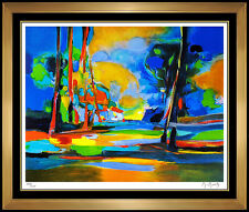 Marcel Mouly Color Landscape Lithograph Original Hand Signed Rare Modern Artwork