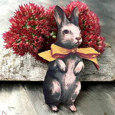 Rabbit BROOCH Wooden jewellery Bunny wood badge Animal lapel pin Girl jewelery