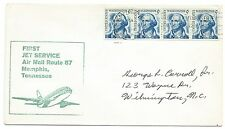 1968 FFC Jet Service Air Mail Route 87 green cachet