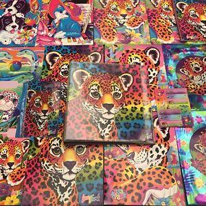 *HUGE LOT* Vintage 90's Lisa Frank Trapper Keeper + Folders, Stickers, & more!