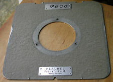 5x4 plaubel peco ets flat lensboard   copal 3 ,matt finish 3 screw holes