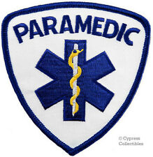PARAMEDIC IRON-ON PATCH Star of Life Ambulance EMT embroidered iron-on RESCUE