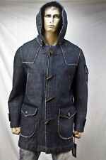 Authentic Ice B by iceberg Men's denim duffel coat US Large Made in Italy