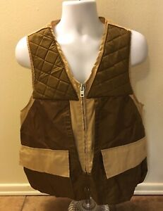 Vintage Game Winner Sportswear Hunting Vest Brown Men Size Medium Game Pouch
