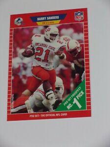 1989 Pro Set Barry Sanders Detroit Lions #494 Football Card Beauty!