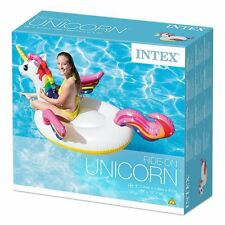 "Intex 79"" Large Inflatable Unicorn Kids Lilo Float Swimming Pool Lounger Ride On"