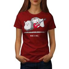 Wellcoda Rock Roll Pun Womens T-shirt, Ambiguity Casual Design Printed Tee