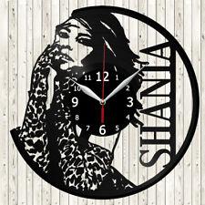 Shania Twain Vinyl Record Wall Clock Decor Handmade 4860
