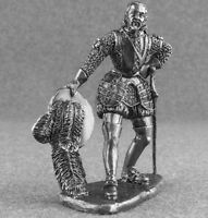 Miniature Army King Philip Ii of Spain 1/32 Medieval Metal Tin Soldier Toy 54mm