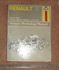 Renault 12 Haynes Workshop Manual de Taller / Reparación