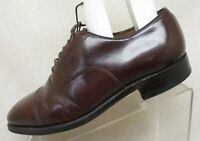 Johnston & Murphy Optima Brown Leather Oxford Cap Toe Dress Shoes Size 8.5 D USA