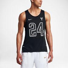 NIKE KOBE #24 Hyper Elite Mesh Tank Top Basketball Shirt -Black- Mens XXL