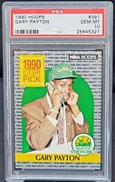 1990 Hoops HOF Sonics Star GARY PAYTON Rookie Card PSA 10 GEM MINT Low Pop 217