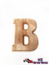 "Medium Oak Wood Alphabet Letter ""B"" Natural Brown Uppercase Home Decor Art Craft"