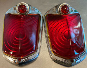 Matching Pair 1939 DODGE TAIL LIGHT LENS AND BEZEL CB-5737