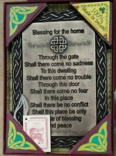 Traditional Irish House Warming Gift Celtic Irish Home Blessing Plaque Bronze