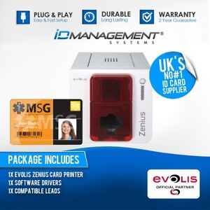 Evolis Zenius Classic Single-Sided ID Card Printer Free UK Delivery • Low Price