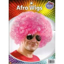 Curly Afro Wigs Colours Funky 70S Disco Clown Hair Unisex Men Ladies Fancy Dress