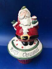 Blue Sky Heather Goldminic 'Santa' trinket box cupcake