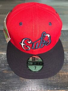 New Era Retro Classic Collection Chicago Cubs Fitted 5950 Baseball Cap NWT 7