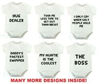 Hug Dealer Novelty Babygrow Bodysuit Funny Gift Newborn 0-3 3-6 6-9 Months