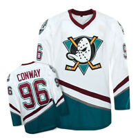 Mighty Ducks Ice Hockry Jerseys #96 Charlie Conway Ice Hockey Jersey Stitched