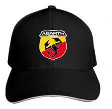 169d9e08b81 Abarth Logo Car Unisex Peaked Baseball Cap Adjustable Cotton Sandwich Hat