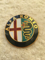 ALFA ROMEO FRONT , REAR BADGE METAL LOGO EMBLEM HIGH QUALITY  FAST SHIPPING 74mm