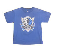 Youth Majestic Dallas Mavericks Dirk Nowitzki T Shirt Size Large Blue #41 NBA