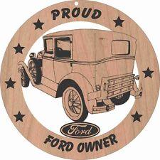 Ford Model A Blind Back Sedan Wood Ornament Laser Engraved