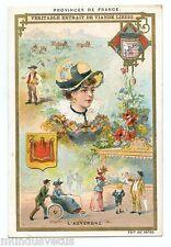 Chromo. Liebig . S492 (1896) . PROVINCES DE FRANCE . L'AUVERGNE