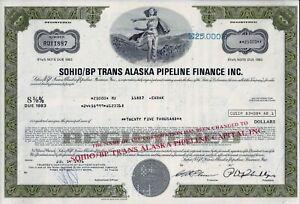 Sohio/BP Trans Alaska Pipeline Finance Inc. 1976, 8 5/8% Note d. 1983 (25.000 $)
