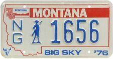 Authentisch Kennzeichen von Montana (1656) USA Nummernschild
